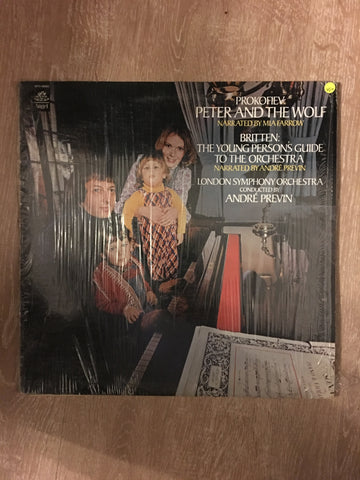 André Previn - London Symphony Orchestra –Mia Farrow (Narrator) - Peter And The Wolf / Young Person's Guide to The Orchestra - Vinyl LP Record - Opened  - Very-Good+ Quality (VG+)