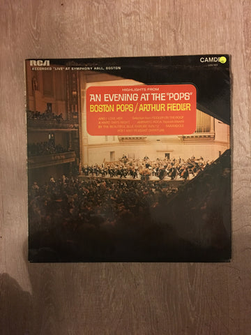 Arthur Fiedler - Boston Pops - An Evening at the Pops - Vinyl LP Record - Opened  - Very-Good Quality (VG)