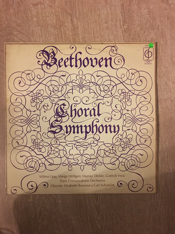 Beethoven - The Paris Conservatoire Orchestra Conducted By Carl Schuricht ‎– Choral Symphony - Vinyl LP Record - Opened  - Very-Good+ Quality (VG+)