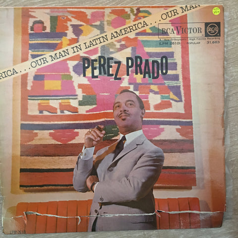 Perez Prado And His Orchestra ‎– Our Man In Latin America - Vinyl LP Record - Opened  - Very-Good+ Quality (VG+)