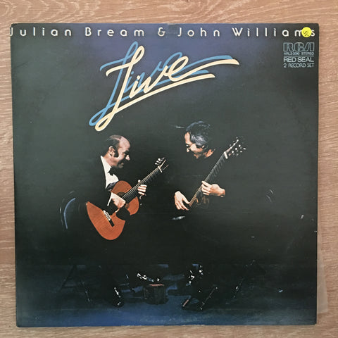 Julian Bream & John Williams  ‎– Live - Opened Vinyl LP - Very-Good+ (VG+)