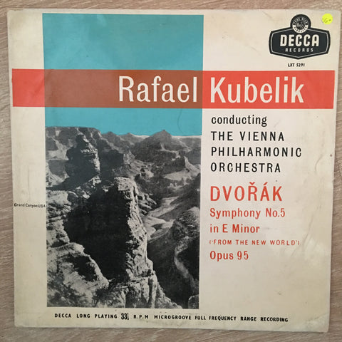 Dvořák - Rafael Kubelik Conducting The Vienna Philharmonic Orchestra ‎– Symphony No.5 In E Minor ('From The New World') Opus 95 - Vinyl LP Record - Opened  - Very-Good- Quality (VG-)