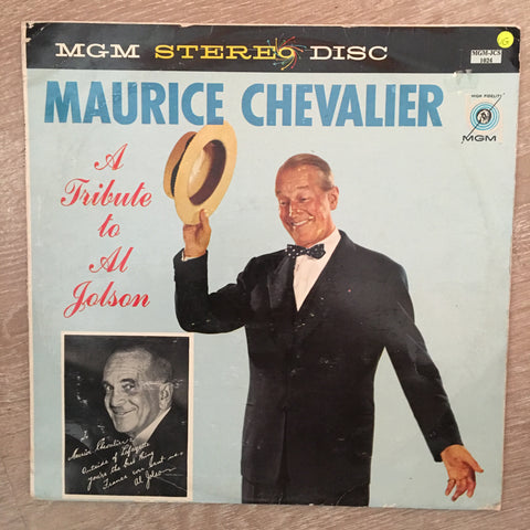 Maurice Chevalier ‎– A Tribute To Al Jolson - Vinyl LP Record - Opened  - Very-Good Quality (VG)