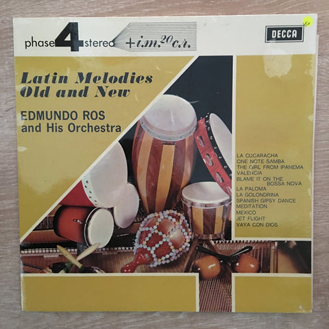 Edmundo Ros And His Orchestra ‎– Latin Melodies Old And New -  Vinyl LP Record - Opened  - Very-Good+ Quality (VG+)