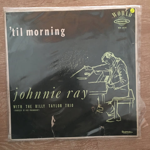 Johnnie Ray With The Billy Taylor Quartet ‎– 'Til Morning - Vinyl LP Record - Opened  - Very-Good Quality- (VG-) - C-Plan Audio