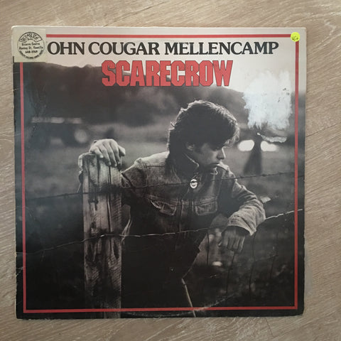 John Cougar Mellencamp ‎– Scarecrow -  Vinyl LP Record - Opened  - Very-Good+ Quality (VG+)