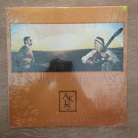 John Silver and Avril Kinsey - African Evenings  -  Vinyl LP Record - Opened  - Very-Good+ Quality (VG+)