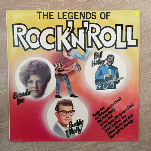 The Legends Of Rock 'N' Roll - Vinyl LP Record - Opened  - Good+ Quality (G+) - C-Plan Audio