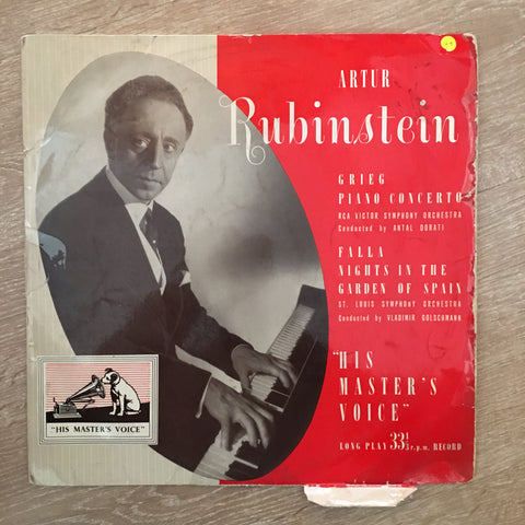 Artur Rubinstein Plays Grieg & Falla - Nights In The Garden Of Spain - Vinyl LP Record - Opened  - Good+ Quality (G+)