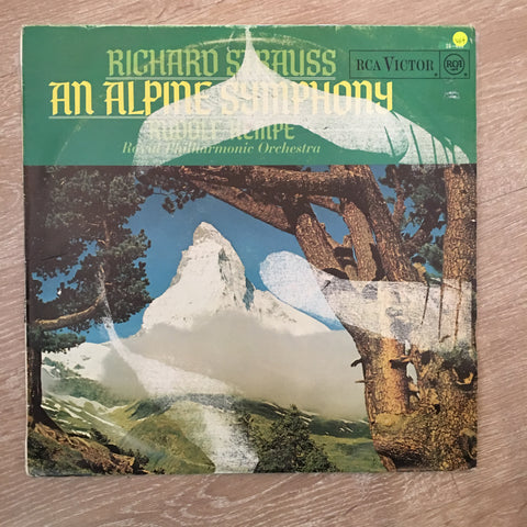 Rudolf Kempe - Royal Philharmonic Orchestra - Strauss ‎– An Alpine Symphony - Vinyl LP Record - Opened  - Very-Good+ Quality (VG+) - C-Plan Audio