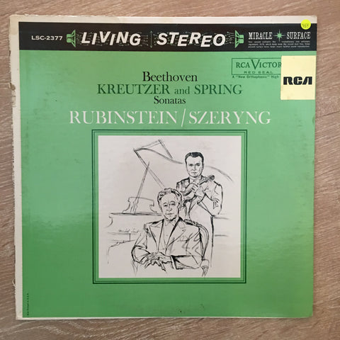 "Beethoven - Rubinstein, Szeryng ‎– Beethoven - ""Kreutzer And ""Spring"" Sonatas - Vinyl LP Record - Opened  - Very-Good+ Quality (VG+)"