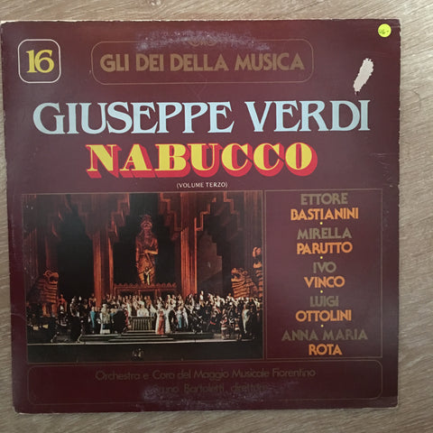Giuseppe Verdi ‎– Nabucco - Vinyl LP Record - Opened  - Very-Good+ Quality (VG+)