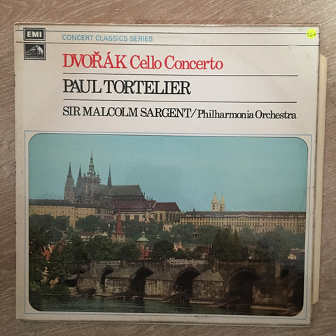 Dvořák, Paul Tortelier, Philharmonia Orchestra, Sir Malcolm Sargent ‎– Dvořák Cello Concerto - Vinyl LP Record - Opened  - Very-Good+ Quality (VG+)