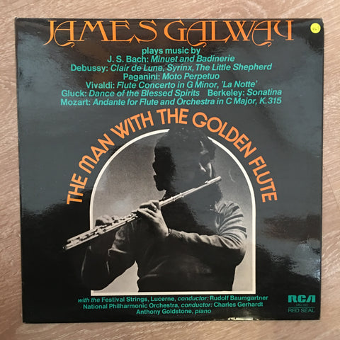James Galway ‎– The Man With The Golden Flute - Vinyl LP Record - Opened  - Very-Good+ Quality (VG+) - C-Plan Audio