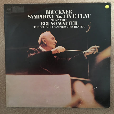 "Bruckner - Bruno Walter, The Columbia Symphony Orchestra ‎– Symphony No. 4 In E-Flat ""Romantic"" - Vinyl LP Record - Opened  - Very-Good+ Quality (VG+)"