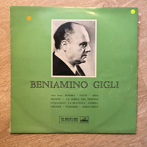 Beniamino Gigli ‎– Benjamino Gigli - Vinyl LP Record - Opened  - Very-Good+ Quality (VG+)