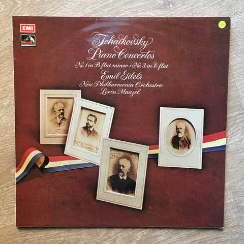 Tchaikovsky / Emil Gilels / New Philharmonia Orchestra / Lorin Maazel ‎– Piano Concertos: No. 1 In B Flat Minor / No. 3 In E Flat - Vinyl LP Opened - Near Mint Condition (NM) - C-Plan Audio