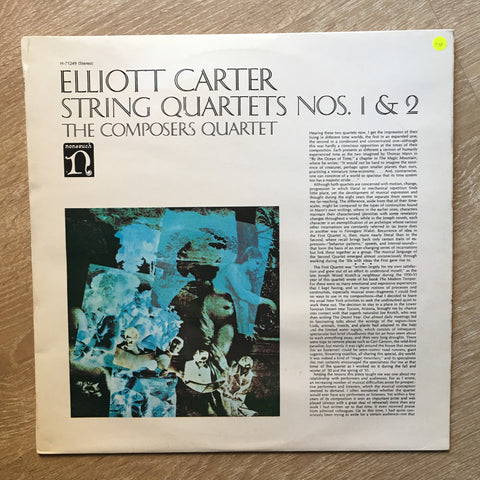 Elliott Carter - The Composers Quartet ‎– String Quartets Nos. 1 & 2 - Vinyl LP Opened - Near Mint Condition (NM)