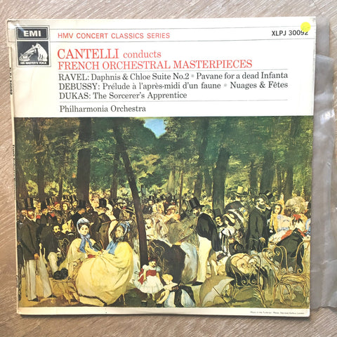 Cantelli French Orchestral Masterpieces - Philharmonia Orchestra - Vinyl LP Record - Opened  - Very-Good- Quality (VG-) - C-Plan Audio