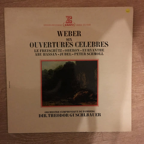 Carl Maria von Weber, Theodor Guschlbauer, Orchestre Symphonique De Bamberg ‎– Six Ouvertures Celebres -  Vinyl LP Record - Opened  - Very-Good+ Quality (VG+) - C-Plan Audio