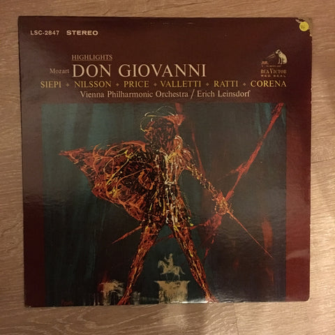 Mozart - Erich Leinsdorf, Vienna Philharmonic Orchestra ‎– Don Giovanni Highlights -  Vinyl Record - Opened  - Very-Good Quality (VG) - C-Plan Audio