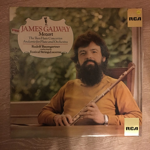James Galway, Mozart, Rudolf Baumgartner Conducting The Festival Strings,Lucerne ‎– The Two Flute Concertos / Andante For Flute And Orchestra - Vinyl LP Opened - Near Mint Condition (NM) - C-Plan Audio