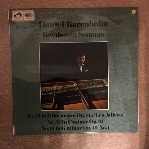 Daniel Barenboim ‎– Beethoven Sonatas: No.26 In E Flat Major, Op.81a 'Les Adieux'; No.32 In C Minor, Op.111; No.19 In G Minor, Op.49, No.1 -  Vinyl LP Record - Opened  - Good Quality (G)