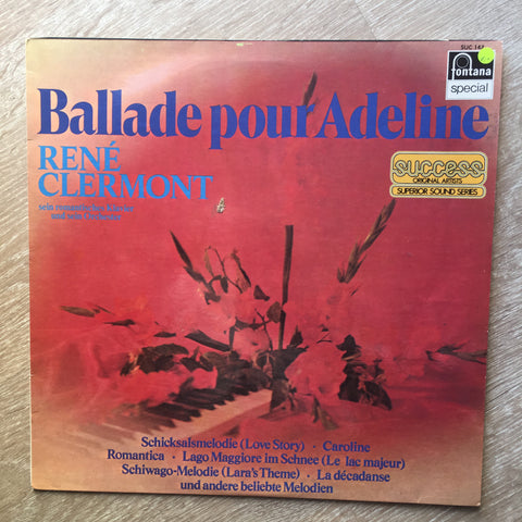 Rene Clermont  ‎– Ballade Pour Adeline -  Vinyl LP Record - Opened  - Very-Good+ Quality (VG+)