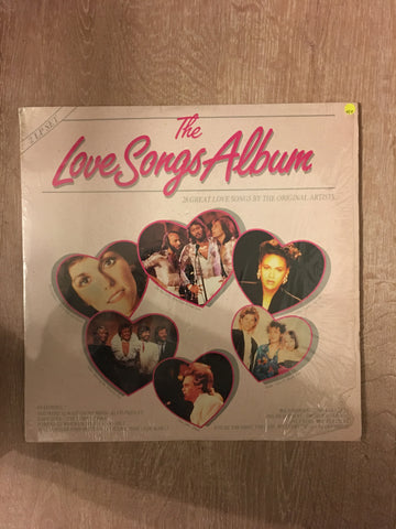 The Love Songs Album - 35 Original Hits - Original Artists  - Double Vinyl LP Record - Opened  - Very-Good+ Quality (VG+) - C-Plan Audio