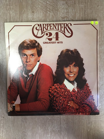Carpenters - 24 Greatest Hits - Vinyl LP Record - Opened  - Very-Good Quality (VG)