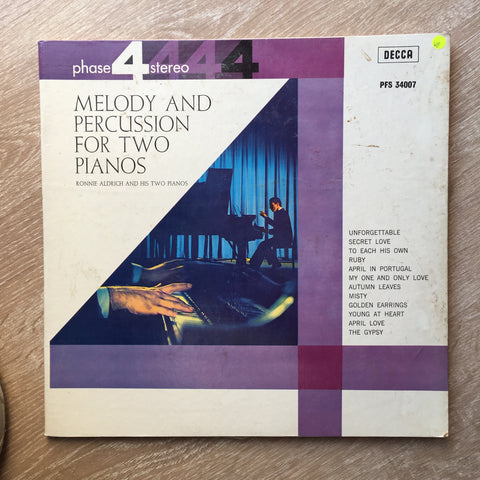 Ronnie Aldrich And His Two Pianos ‎– Melody And Percussion For Two Pianos -  Vinyl LP Record - Opened  - Very-Good+ Quality (VG+) - C-Plan Audio