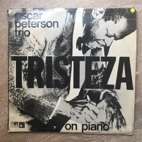 The Oscar Peterson Trio ‎– Tristeza On Piano- Vinyl LP Record - Opened  - Very-Good Quality- (VG-)