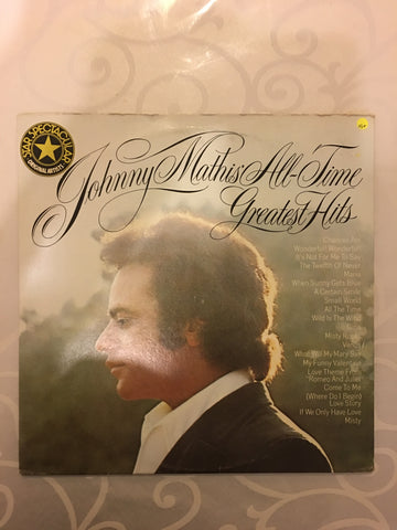 Johnny Mathis - All Time Greatest Hits - Vinyl LP Record - Opened  - Very-Good+ Quality (VG+) - C-Plan Audio