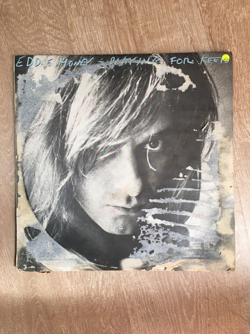 Eddie Money - Playing For Keeps - Vinyl LP Record - Opened  - Very-Good+ Quality (VG+) - Note Cover Damage - C-Plan Audio