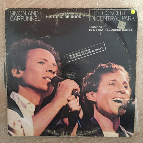 Simon & Garfunkel ‎– The Concert In Central Park  - Vinyl LP Record - Opened  - Very-Good- Quality (VG-) - C-Plan Audio