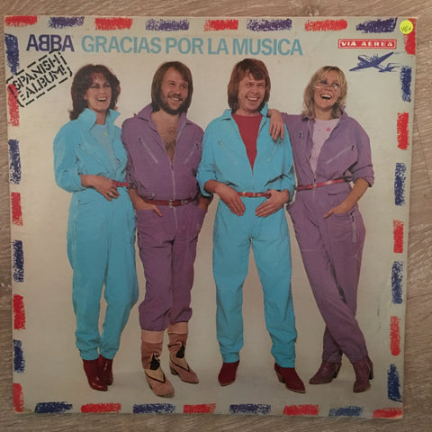 ABBA  (Spanish Album) ‎– Gracias Por La Musica   - Vinyl LP Record - Opened  - Very-Good+ Quality (VG+)