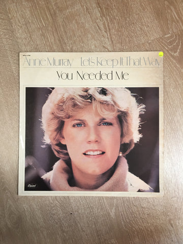 Anne Murray  - Let's Keep it That Way  - Vinyl LP - Opened  - Very-Good+ Quality (VG+)