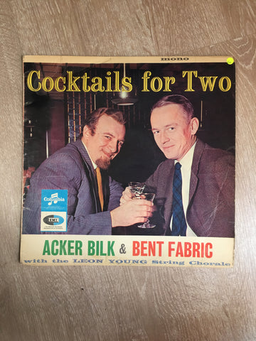 Acker Bilk , Bent Fabric ‎– Cocktail For Two - Vinyl LP Record - Opened  - Good+ Quality (G+)