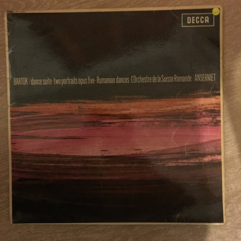 Bartok, L'Orchestre De La Suisse Romande / Ansermet ‎– Dance Suite ∙ Two Portraits Opus Five ∙ Rumanian Dances -  Vinyl LP Record - Opened  - Very-Good+ Quality (VG+)