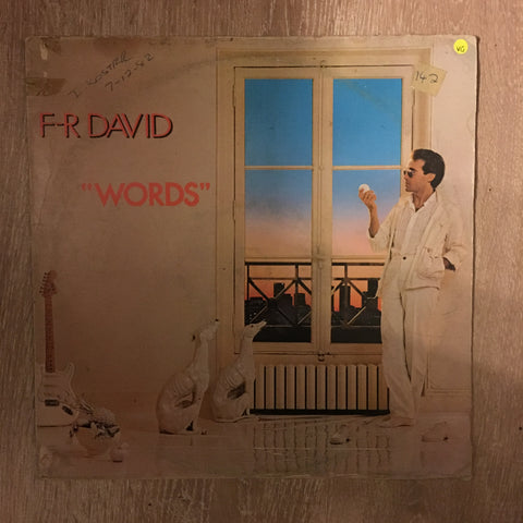 F.R. David (FR)  - Words  - Vinyl LP - Opened  - Very Good Quality (VG)