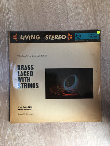 Vic Schoen and His Orchestra - Brass Laced With Strings - Vinyl LP Record - Opened  - Very-Good Quality (VG) - C-Plan Audio