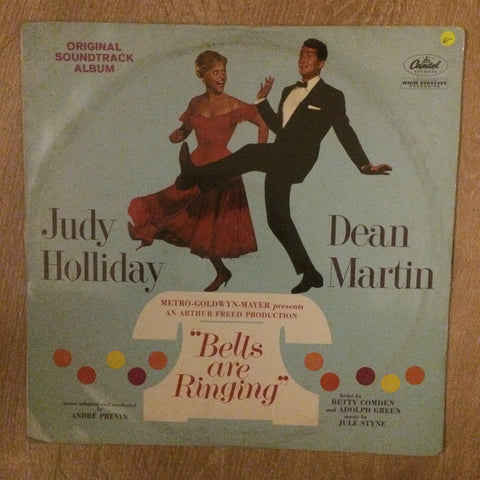 Judy Holliday And Dean Martin (Andre Previn conducting) ‎– Bells Are Ringing - Vinyl LP Record - Opened  - Very Good Quality (VG)