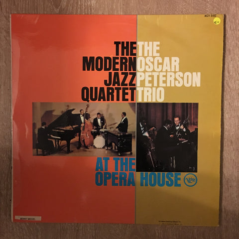 The Modern Jazz Quartet And The Oscar Peterson Trio ‎– At The Opera House - Vinyl LP Record - Opened  - Very-Good+ Quality (VG+) - C-Plan Audio