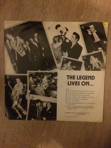 Elvis - The Legend Lives On - A Canadian Tribute -  Transparent Vinyl LP Record - Opened  - Very-Good Quality (VG) - C-Plan Audio