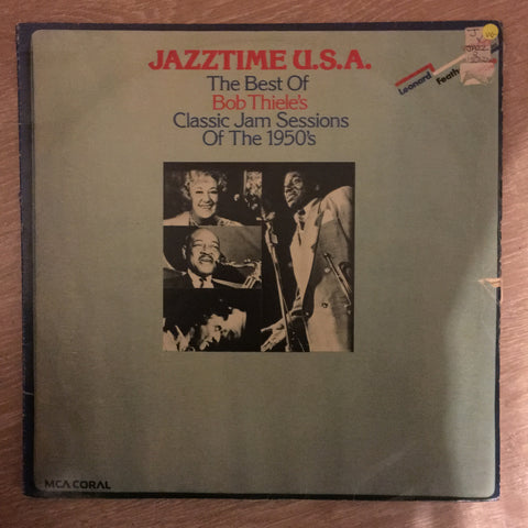 Jazztime U.S.A. - The Best Of Bob Thiele's Classic Jam Sessions Of The 1950's -  Double Vinyl LP Record - Opened  - Very-Good Quality (VG)