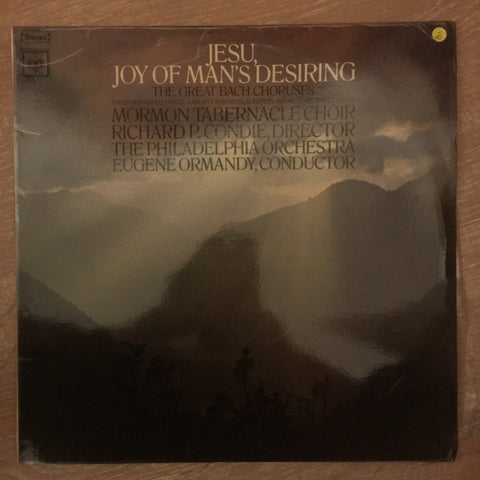 Jesu - Joy Of Man's Desiring - Mormon Tabernacle Choir - Vinyl LP Record - Opened  - Very-Good- Quality (VG-)