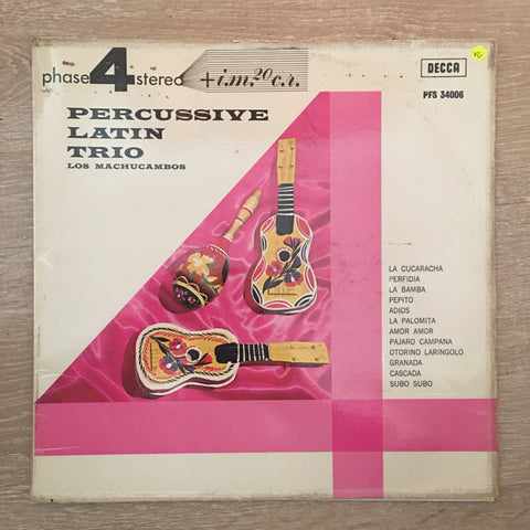 Los Machucambos ‎– Percussive Latin Trio - Vinyl Record - Opened  - Very-Good Quality (VG) - C-Plan Audio