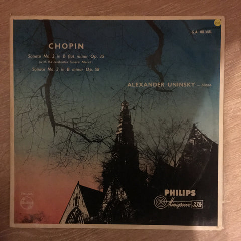 Alexander Uninsky ‎– Chopin - Sonata No. 2 In B Flat Minor Op. 35, Sonata No. 3 In B Minor Op. 58  - Vinyl LP Record - Opened  - Very-Good+ Quality (VG+)