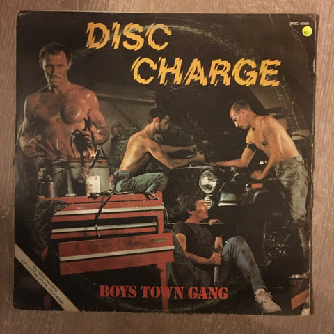 Boys Town Gang - Disc Charge - Vinyl LP - Opened  - Very-Good+ Quality (VG+)