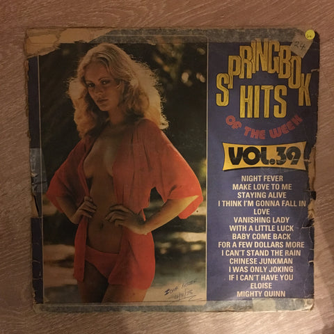 Springbok Hits Of The Week Vol 39 - Vinyl Record - Opened - Good+ Quality  (G+)